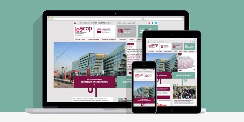 Webdesign URSCOP Rhône-Alpes